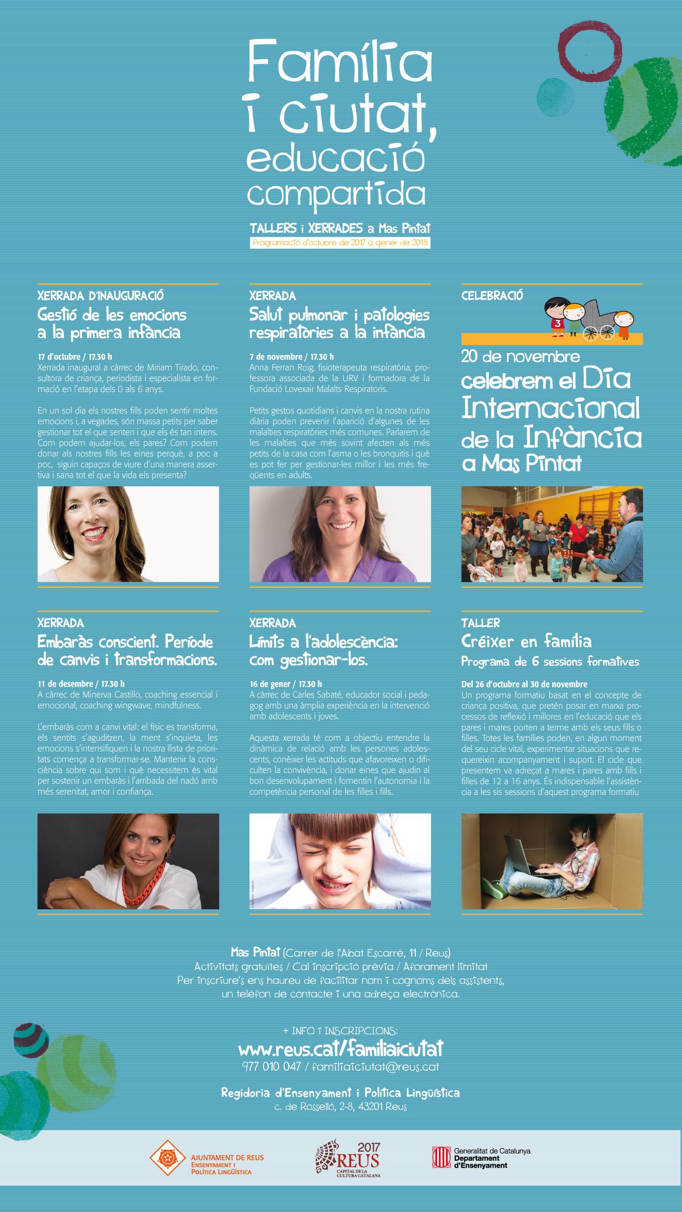 Programa cartell familia i ciutat, educació compartida