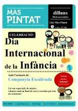 Cartell Diada Internacional infància 20 de novembre Mas Pintat